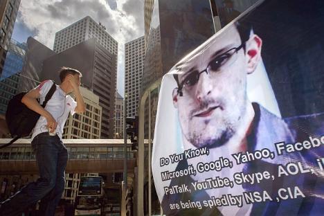 Ruski predsjednik Vladimir Putin je 19. prosinca izjavio na press-konferenciji da ruske tajne službe ''ne rade sa Snowdenom na operativnom planu''.Izvor: AFP/East News