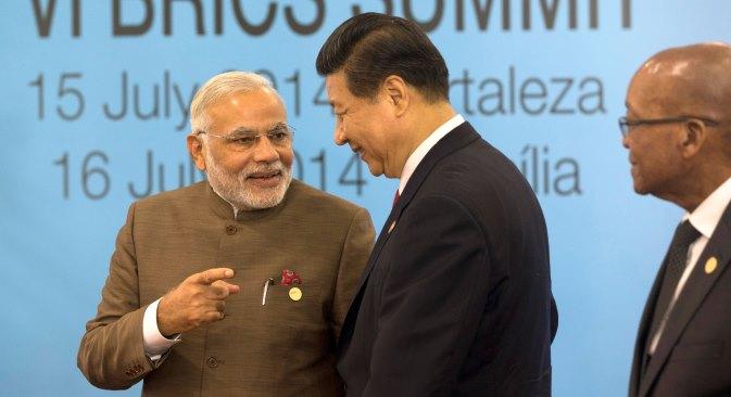 Kompromis između Indije i Kine neće se lako postići jer su njihovi odnosi prožeti međusobnim nepovjerenjem. Na fotografiji: Premijer Indije Narendra Modi i generalni tajnik CK KP Kine Xi Jinping na Summitu BRICS-a u Brazilu. Izvor: AP.