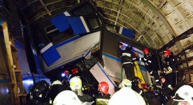 Radi se o najvećoj tehnogenoj katastrofi u povijesti moskovskog metroa. Točan uzrok nesreće još uvijek nije poznat. Izvor: twitter.com/oODarkWingsOo.