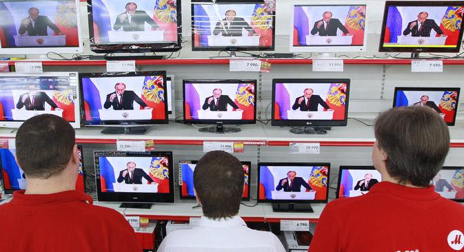 Mnogi se Rusi prvenstveno oslanjaju na televiziju kao izvor vijesti. Izvor: RIA Novosti