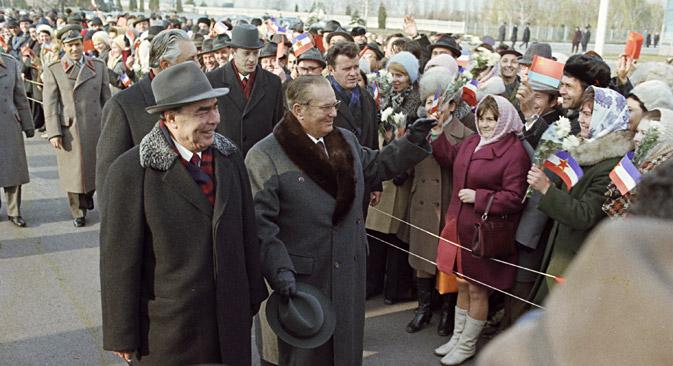 U Zagrebu je boravio i Leonid Brežnjev 1962., a bio je i prošetao glavnim trgom. Izvor: Vladimir Akimov/ Ria Novosti