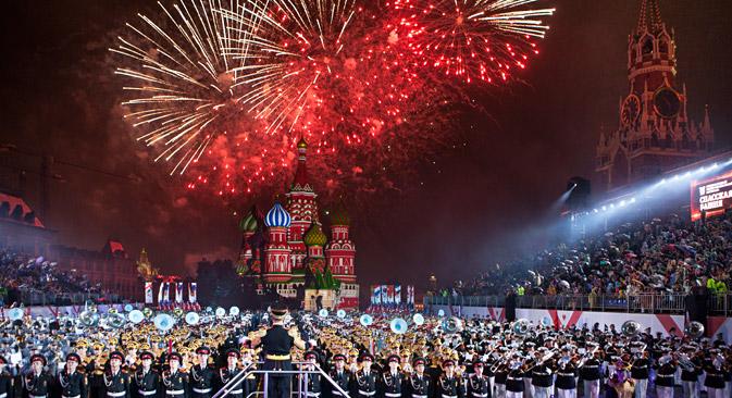 """""""Spasskaja bašnja"""" je jedan od najvećih festivala vojne glazbe na svijetu. Izvor: Rosijsskaja gazeta"""