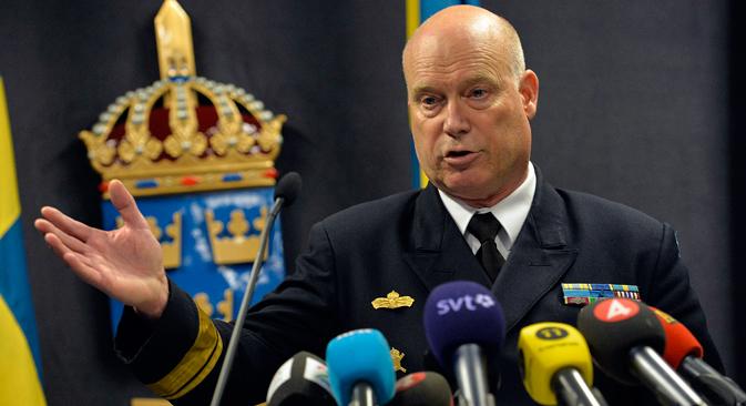 """Kontraadmiral švedske ratne mornarice Anders Grenstad u nedjelju navečer je izjavio da su švedske oružane snage u tri navrata zabilježile """"stranu podvodnu aktivnost"""" na području Stockholmskog arhipelaga. Izvor: Reuters"""