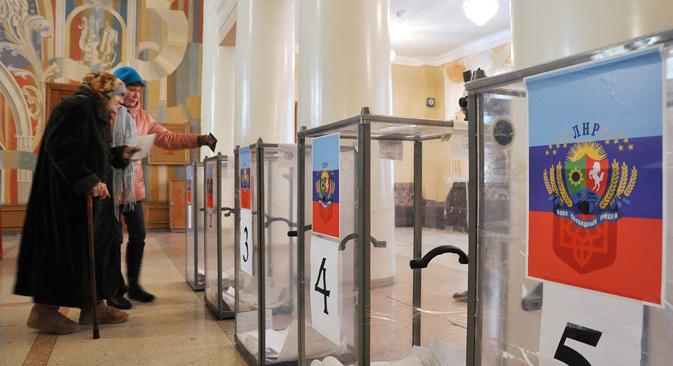 """Pred početak glasovanja u DNR-u i LNR-u ministar vanjskih poslova RF Sergej Lavrov izjavio je da ćemo """"mi, naravno, priznati njihove rezultate"""". Međutim, poslije izbora 2. studenog vanjskopolitički resor Rusije promijenio je retoriku.Izvor: Photoshot / Vostockphoto"""