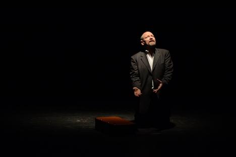 Ulogu Venje maestralno je odigrao Ljubo Zečević, koji je ujedno i producent novog izdanja predstave Moskva-Petuški. Fotografija iz privatne arhive
