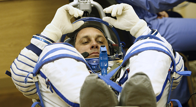 Kozmonaut Roskozmosa Anton Škaplerov priprema se za let. Arhiv© Mihail Džapariadze/TASS