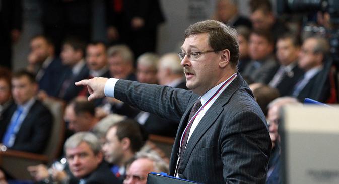 Prvi zadatak Konstantina Kosačova na dužnosti predsjednika Odbora za međunarodna pitanja Vijeća Federacije (gornjeg doma ruskog parlamenta) bit će ponovno uspostavljanje punopravnog članstva Rusije u Parlamentarnoj skupštini Vijeća Europe. Izvor: Rossijskaja gazeta