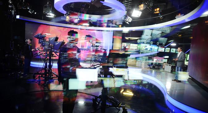 Krajem prošle godine donesen je zakon o ograničavanju stranog udjela u vlasništvu nad ruskim medijima. Izvor: TASS