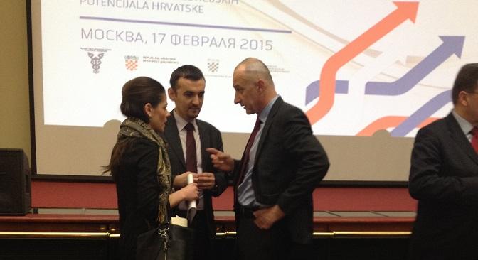 Ministar gospodarstva Ivan Vrdoljak i veleposlanik RH u Moskvi Igor Pokaz.Izvor: Ekaterina Turiševa/Ruski Vjesnik