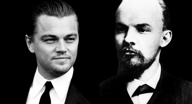 DiCaprio i Lenjin. Izvor: AP, wikipedia.org, RBTH.