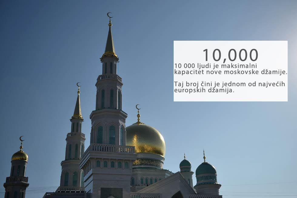 Velika džamija u Meki (Saudijska Arabija) je najveći islamski hram, koji može posjetiti istovremeno 4 milijuna vjernika. To je 400 puta više od moskovske džamije.
