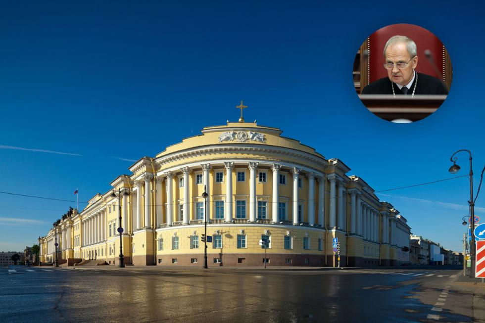 Russia's Constitutional Court is the only governmental body located outside Moscow. From 2007 it is housed inside one of St Petersburg's top architectural gems - the Senate and Synod Building, designed by Carlo Rossi.  The Court's chairman is former Yeltsin opponent Valery Zorkin.