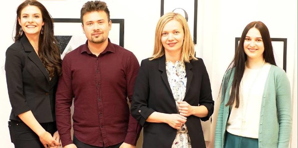 Urednica RBTH, Pavel Isajkov, Ana Horvačić Debić, profesorica ruskog jezika Jana.