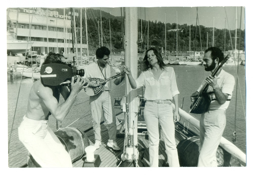 Filming the Soviet singer Sofia Rotaru. / Personal archive