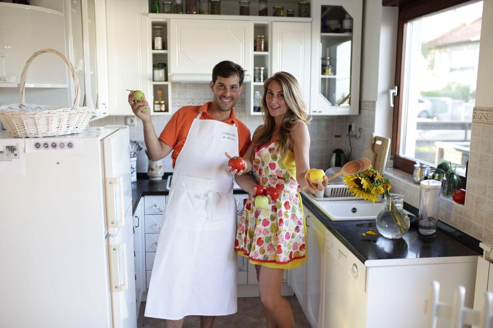 Lada i Michael Kustra u svojoj kuhinji.
