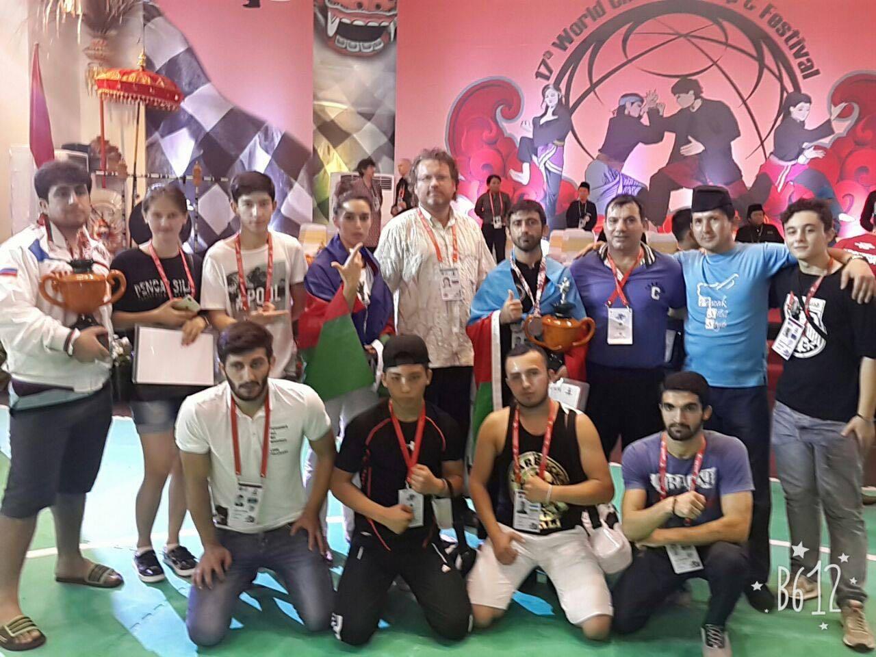 Delegasi Federasi Pencak Silat Rusia pada Kejuaraan Dunia Pencak Silat di Bali, Desember 2016. Sumber: Lyaysana Burnasheva