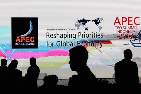 Agenda utama pertemuan terfokus di sekitar kepentingan regional ekonomi APEC terbesar. Sumber: AP