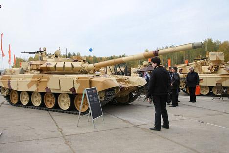 Arena-E, sistem perlindungan aktif tank. Sumber: Tatyana Andreeva / RG