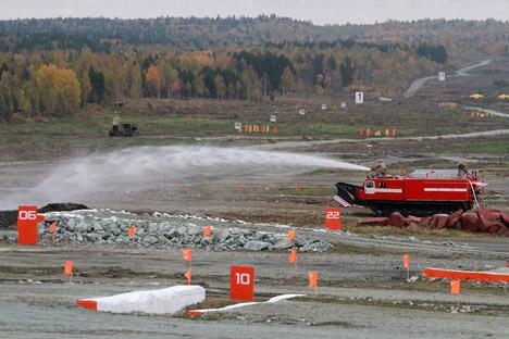 SPM, robot khusus pemadam kebakaran. Sumber: Tatyana Andreeva / RG