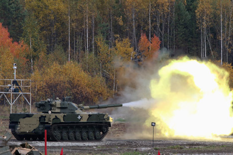 2S25 Sprut, artileri otomatis antitank. Sumber: Tatyana Andreeva / RG