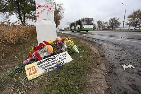 Pembonan di Volgograd menyebabkan 6 orang tewas dan 36 terluka. Sumber: RIA Novosti