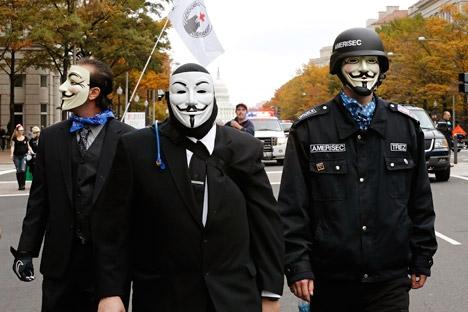 Penjaga dunia maya menjadi topik hangat 2013. Sumber: Reuters
