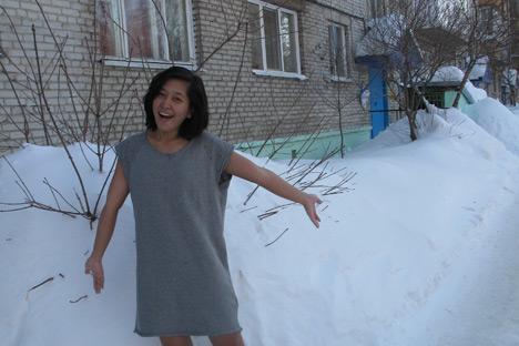Saya merasa sangat terkesan melihat salju yang begitu tebal di kota Tomsk! Kredit: author.