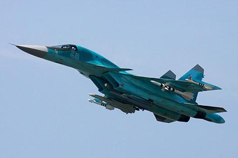 Sukhoi Su-34 merupakan salah satu kemajuan yang dicapai oleh angkatan udara Rusia. Kredit: Reuters