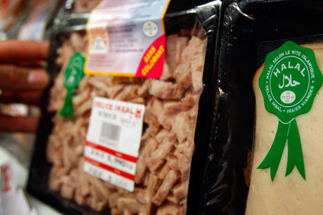 Dalam tiga tahun terakhir volume produksi makanan halal di Rusia meningkat tiga kali lipat dari 0,45 juta ton pada 2010 menjadi 1,3 juta ton pada 2013.