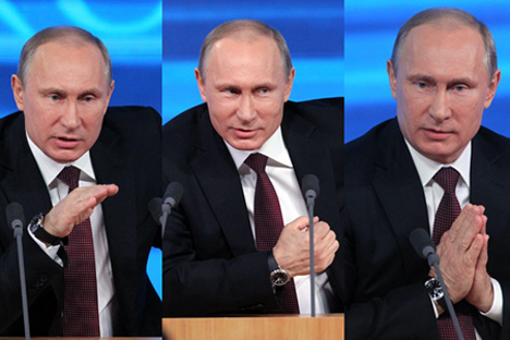 Ada banyak interpretasi terhadap cara seseorang menyapa dan disapa pejabat Kremlin di depan umum, tapi satu hal yang pasti: maknanya sangat penting. Kredit: RG / Collage oleh RBTH