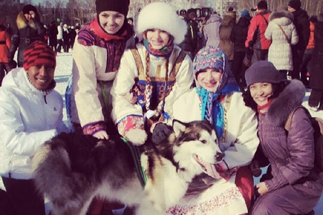 Anjing Siberian Husky yang menggemaskan. Kredit: author.