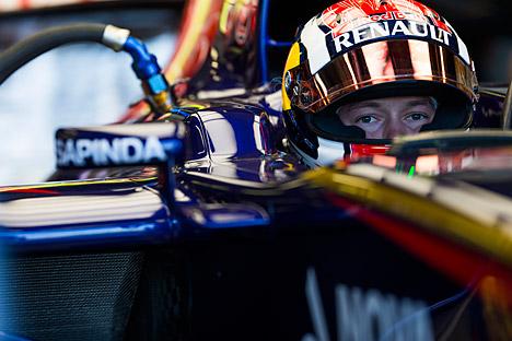 Kvyat menjadi pembalap termuda yang mencetak poin dalam sejarah balap F1. Kredit: Getty Images/Fotobank