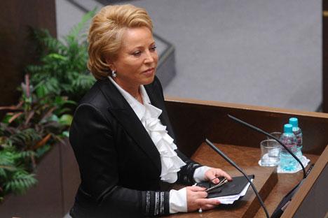 Valentina Matviyenko dinobatkan sebagai salah satu wanita paling berpengaruh dalam dunia politik Rusia. Kredit: ITAR-TASS