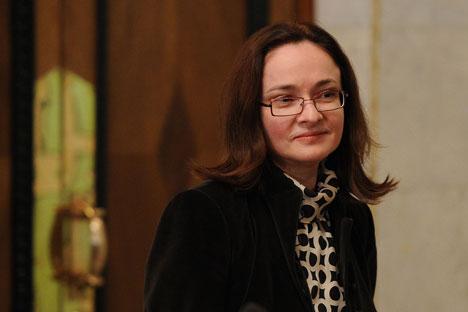 Elvira Nabiullina bukan hanya menjadi perempuan pertama yang menjabat sebagai kepala Bank Sentral dalam sejarah Rusia, tetapi juga menjadi orang pertama dari Kementerian Pembangunan Ekonomi yang menempati posisi ini. Foto: RIA Novosti