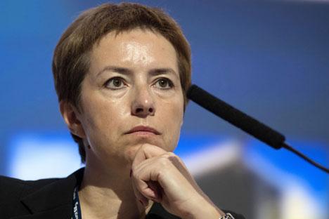 Olga Dergunova dinobatkan sebagai wanita paling sukses di Uni Eropa pada tahun 2004. Foto: RIA Novosti