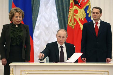 Menurut Putin, Rusia sudah lelah akan fakta bahwa Barat tidak memperlakukan Rusia sebagai mitra sejajar. Kredit: AP