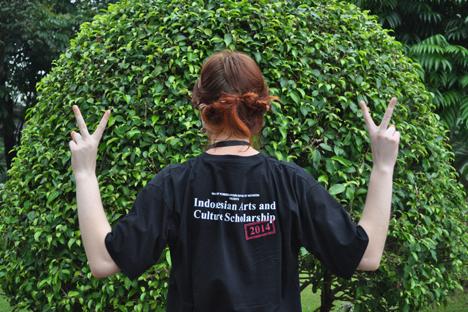 Saya di Jakarta memakai baju BSBI. Foto: penulis
