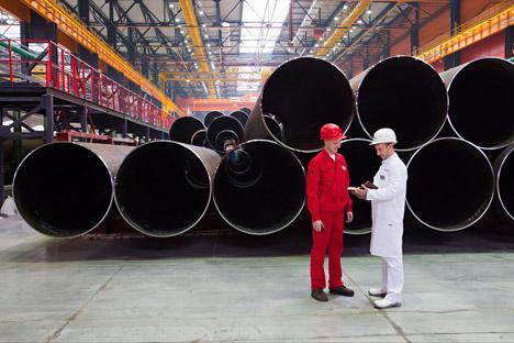 Pabrik Pipa Gulung Chelyabinsk akan meluncurkan produksi pipa berdiameter besar yang sebelumnya dibeli oleh berbagai industri Rusia dari Jerman dan Ukraina. Foto: ITAR-TASS