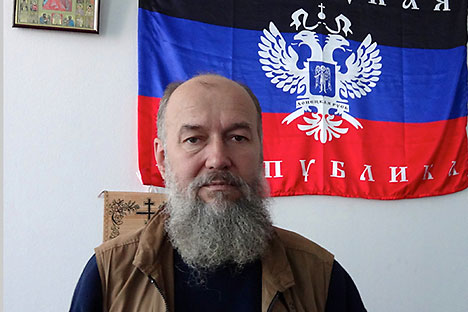 Juru bicara Dewan Proklamasi Republik Rakyat Donetsk, Vladimir Makovich. Foto: Sergey Maslenikov/RG