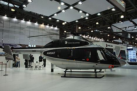 Ansat dapat menjadi helikopter penumpang, pengangkut, ambulans, atau penyelamat, tergantung pengaturannya. Foto: Ruslan Sukhushin