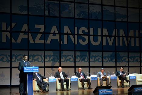 Secara keseluruhan, dalam KazanSummit 2014 tercatat lebih dari 500 peserta dari 26 negara dan 14 wilayah Rusia menghadiri forum ini. Foto: Maksim Bogodvid/RIA Novsoti