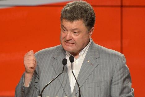 Presiden Ukraina yang baru saja terpilih, Petro Poroshenko, mengatakan akan tetap mengajukan masalah Krimea ke pengadilan internasional. Foto: Mihail Voskresensky/RIA Novosti