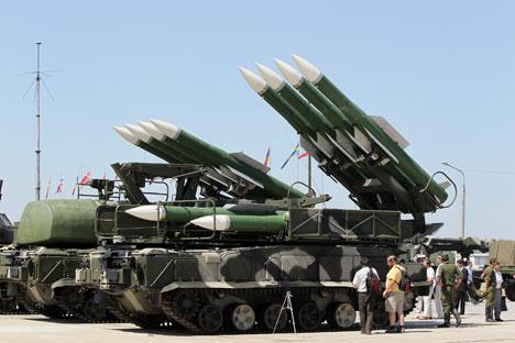 Sistem peluncur rudal BUK adalah salah satu senjata yang paling efektif dalam sistem persenjataan pertahanan udara. Foto: Aleksei Kudenko/RIA Novosti