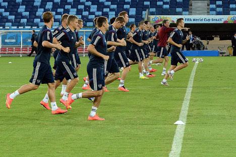 Pemain tim nasional sepak bola Rusia dalam Piala Dunia Brasil 2014. Foto: RIA Novosti