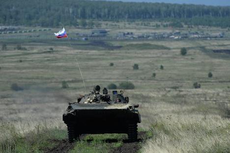 Kendaraan tempur infanteri BMP-2. Foto:  Pavel Lisitsyn/RIA Novosti