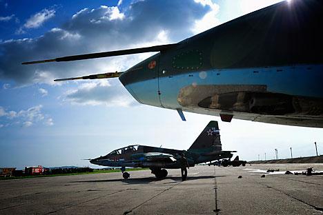 Pesawat tempur Rusia Su-25. Foto: ITAR-TASS