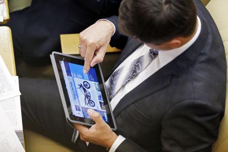 Pengunjung situs dapat membaca informasi mengenai kebijakan baru setiap harinya dan mempublikasikan informasi tersebut melalui media sosial yang ada untuk didiskusikan lebih lanjut. Foto: ITAR-TASS