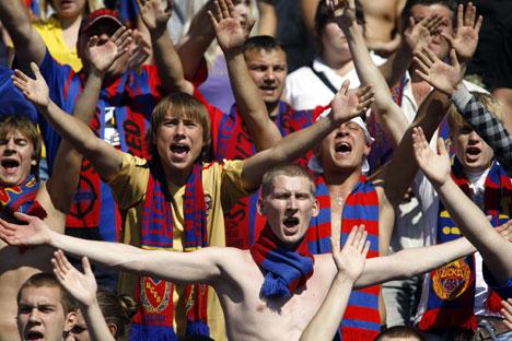Penggemar CSKA Moskow. Foto: ITAR-TASS