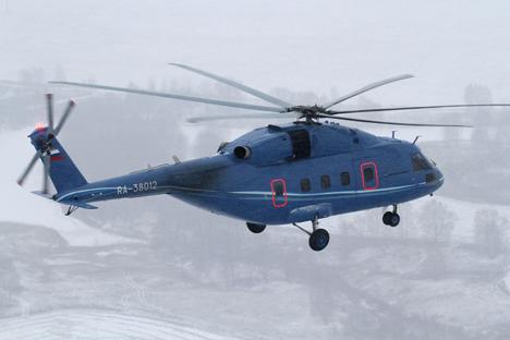 """Model helikopter militer untuk Arktik diciptakan berdasarkan konsep """"Terminator"""". Foto: Russian Нelicopters/JSC"""