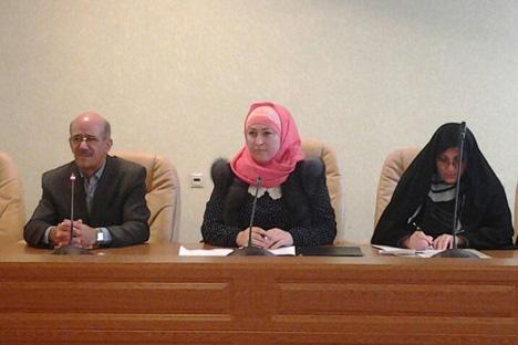 Persatuan Perempuan Islam Tatarstan diresmikan dalam kongres perempuan muslim pertama Rusia yang berlangsung di Kazan pada Desember 2005. Foto: Press Photo